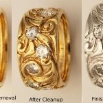 before-after-jewelry-repairs-enamel-removed-re-rhodium-wedding-band-petraskus-gold-diamond-band