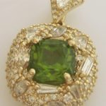 custom-peridot-yellow-gold-diamond-fancy-necklace-designer-modern-filigree-pave-diamonds-concave-peridot-pakistani-chinese
