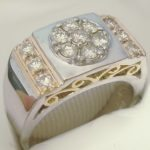 custom-restyle-man-to-women-ring-diamond-cluster-diamonds-channel-two-tone-gold-filigree-wide-ladies-ring-angela-phillips