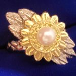 custom-sunflower-pearl-diamond-ring