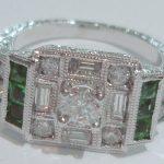 antique emerald diamond ring custom