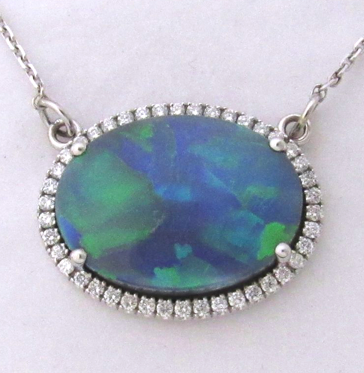 custom-cad-cam-black-opal-australian-lightning-ridge-diamond-bezel-white-gold-dwan-blue-green-1024x910