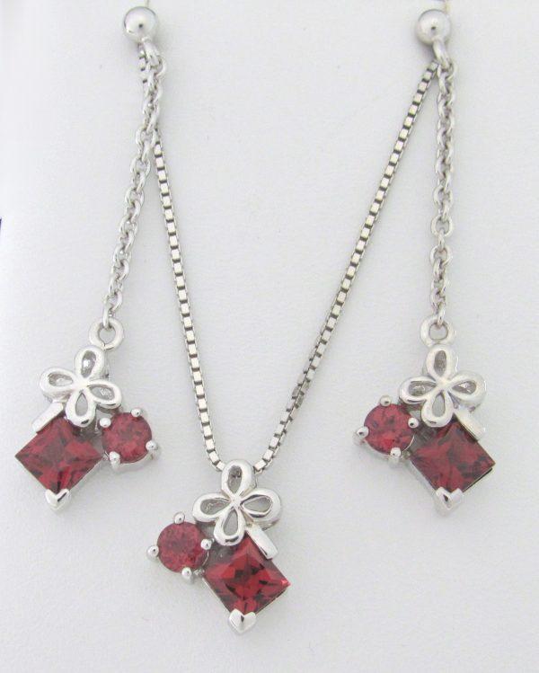 11001 Garnet Silver Set Min