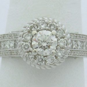 11199 Top Halo Diamond Engagement Rings