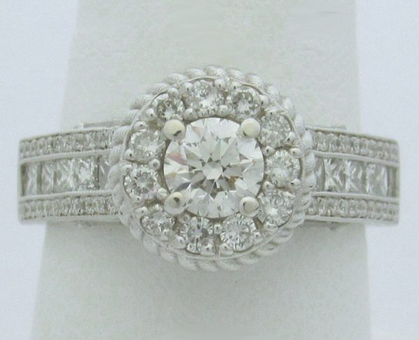 11199 Top Halo Diamond Engagement Rings