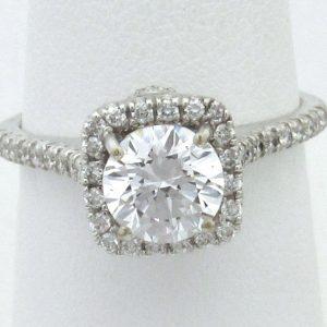 1583 Top 18kw Vintage Diamond Semi Mount