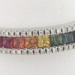 2467 Sapphire Diamond Band