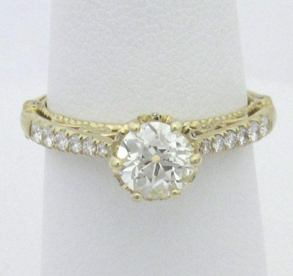 2520 Top Euro Diamond Vintage Yellow Gold