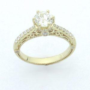 2520 Vintage Angle Euro Diamond Filigree