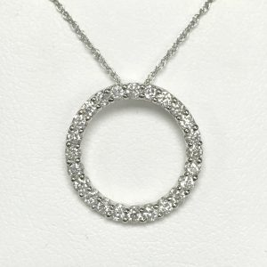 2573 Diamond Circle Necklace Min