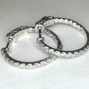 2574 Diamond Hoops Earrings