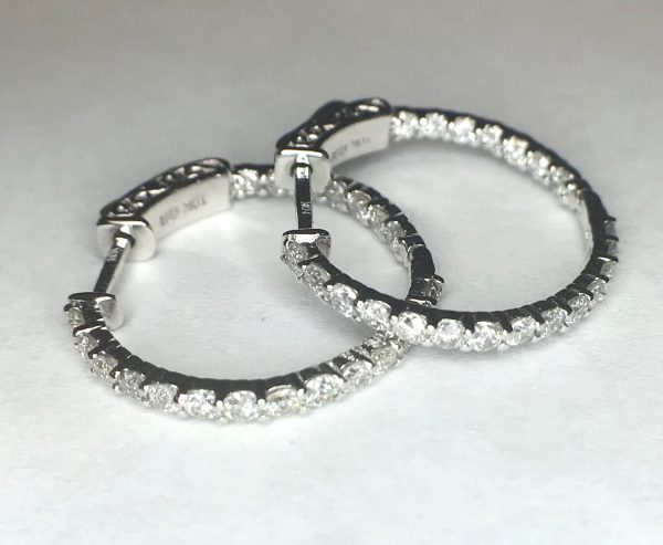 2574 Diamond Hoops Earrings