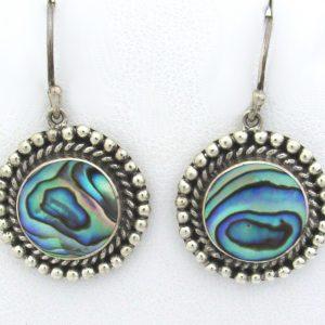2633 Abalone Silver Bali Earrings