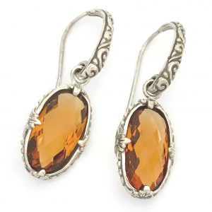 2638 Bali Citrine Earrings
