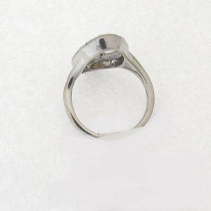 2199 Side 18kt Diamond Tree Bark Ring