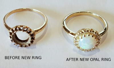 Before After New Opal Ring Repairs New Design