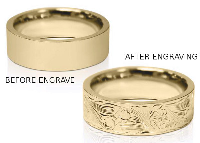 Before And After Engravings On Jewelry Gold Rings